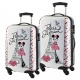 DISNEY KIDS SUITCASE SMALL SIZE 55Cm Paris Je t' aime. White